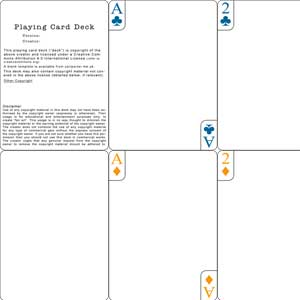 Blank template for the Playing Cards