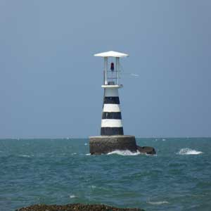 Lighthouse off Hua Hin beach